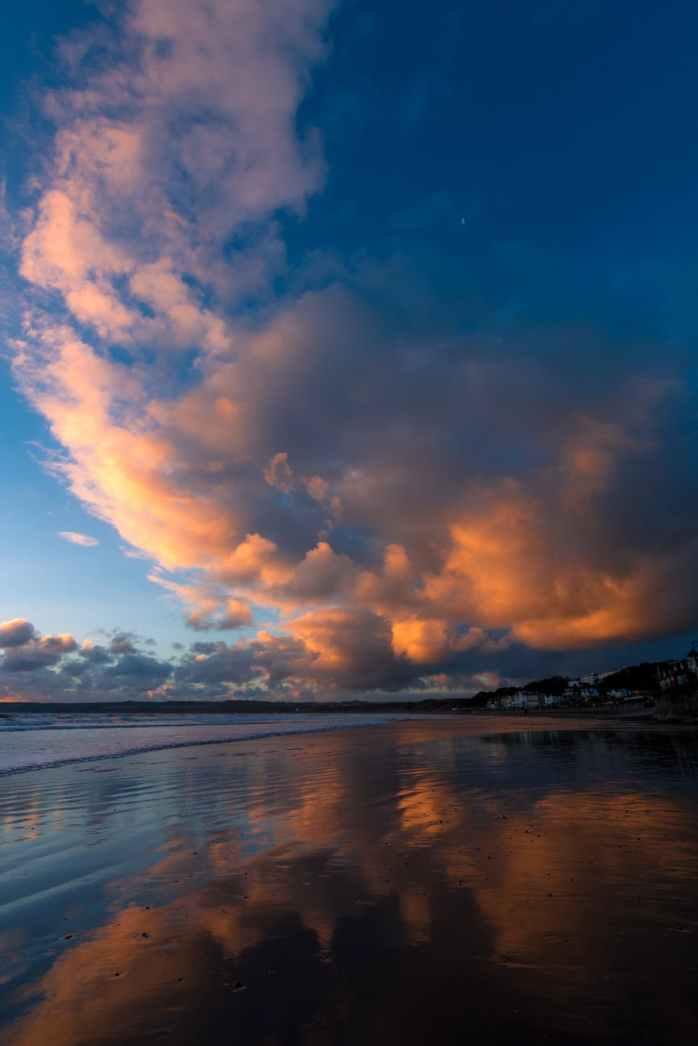 bay beach britain clouds