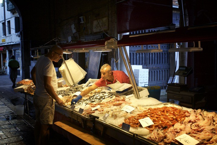 early morning at the market
