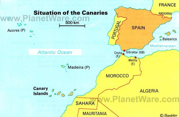 situation-of-the-canary-islands-map