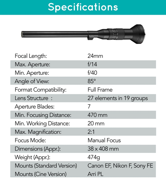 Laowa-24mm-f14-2x-Macro-Probe-Lens-Specs