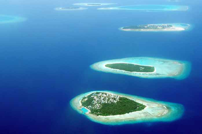 bird s eye view photography of islands