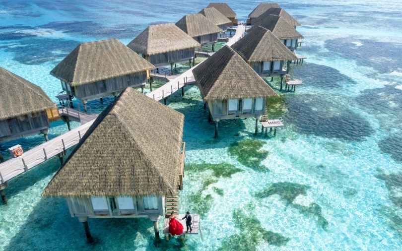 aerial photography of bungalows