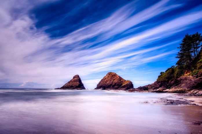beach beautiful clouds dawn