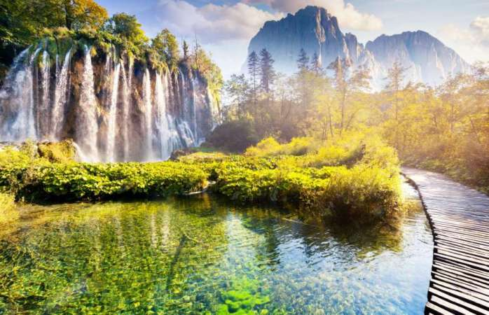 Plitvice Lakes National Park waterfalls, Croatia